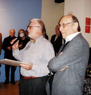 Ric Grefé with Milton Glaser at the opening