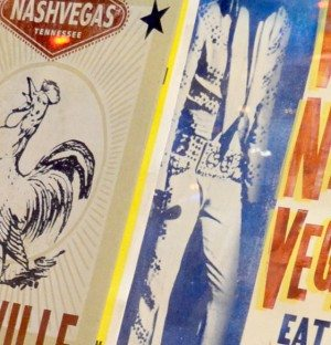 Nashville: Detail of poster in storefront